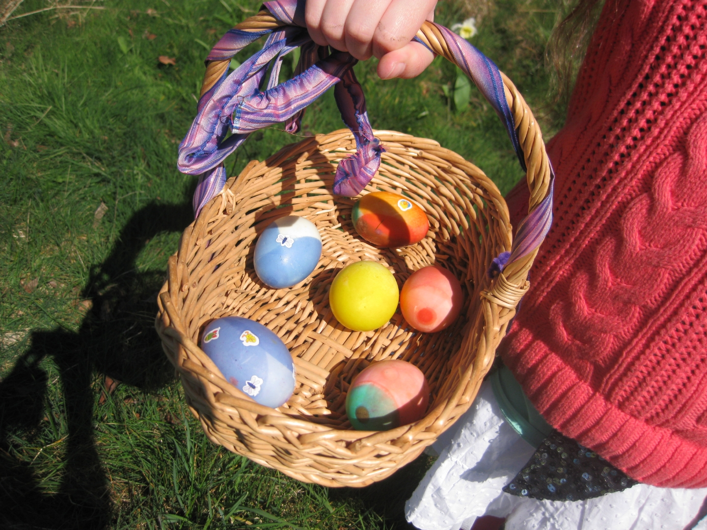Easter Eggs from our chickens and ducks ~ photo by Jane